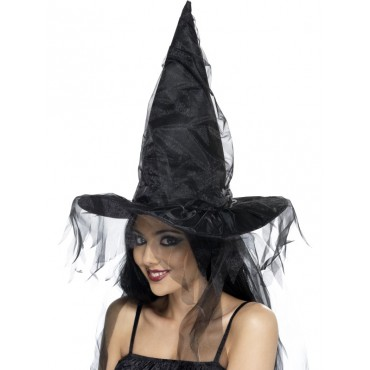 Witch Hat Adult Black with...