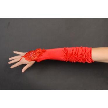 Gloves Fingerless Satin...