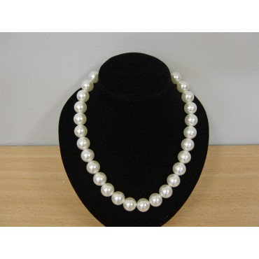 Necklace Beads White Pearl...