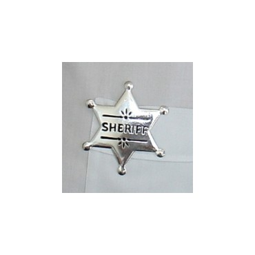 Badge Sheriff Star Metal