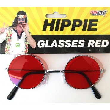 Glasses Hippie Lennon Red