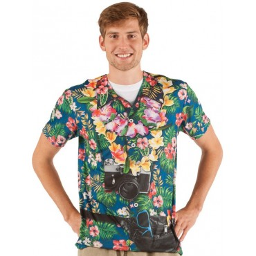 Faux Real Shirt Hawiian...