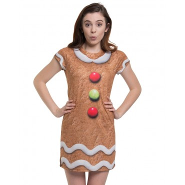Faux Real Dress Gingerbread M