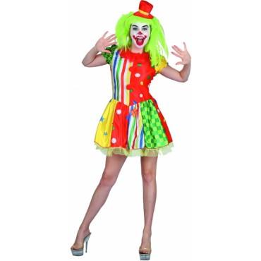 Costume Adult Clown Lady SM