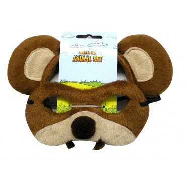 Mask and Headband Bear Brown