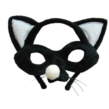 Mask and Headband Cat Black...
