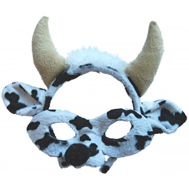Mask and Headband Cow