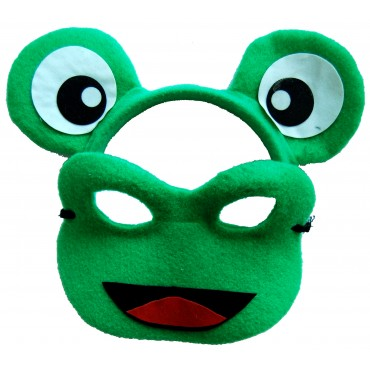 Mask and Headband Frog Green