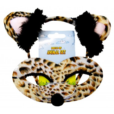 Mask and Headband Leopard