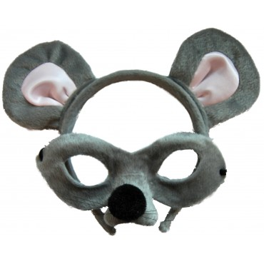 Mask and Headband Mouse Grey