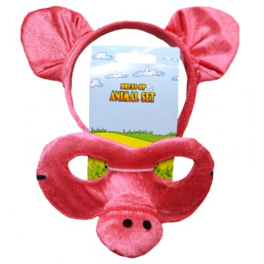 Mask and Headband Pig