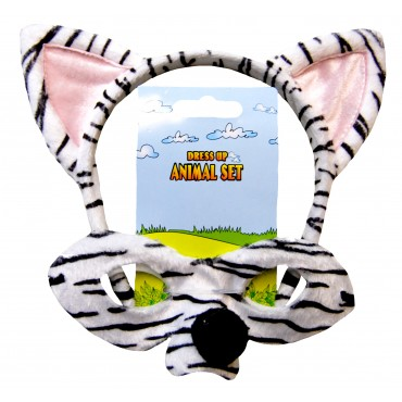 Mask and Headband Zebra