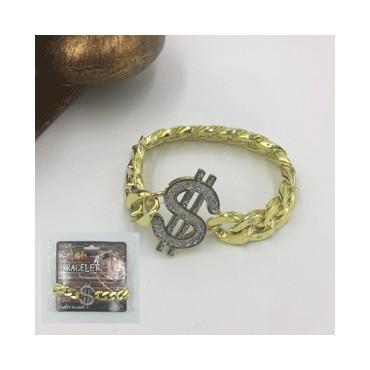 Bracelet Gold Chunky Dollar...