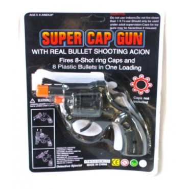 Cap Gun Small Black Silver