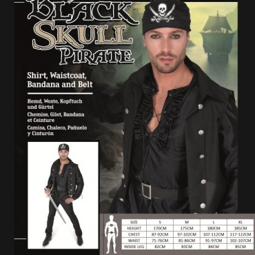 Costume Adult Pirate Black...