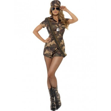 Costume Adult Army Girl M