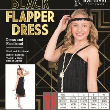 Costume Child Flapper Black M
