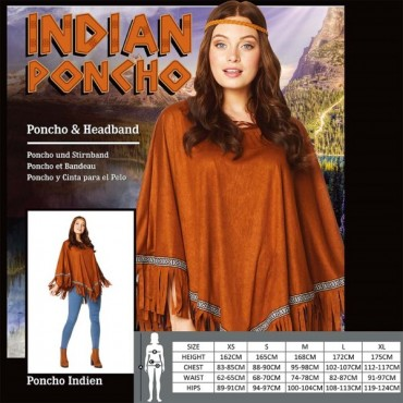 Costume Adult Indian Poncho...