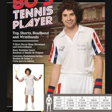 Costume Adult Tennis Player...