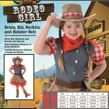 Costume Child Rodeo Girl L
