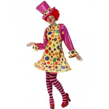Costume Adult Clown Lady L