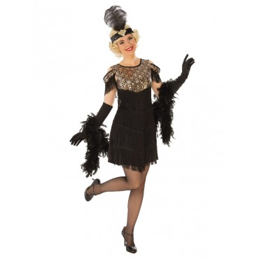 Costume Adult Flapper Gold...