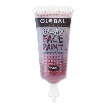 Face Paint 15ml Glitter Red...