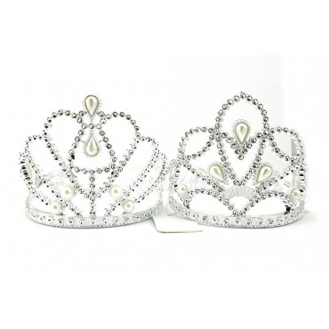 Tiara Silver Diamond And Pearl