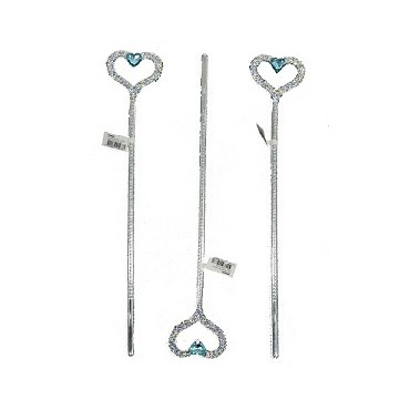 Wand Silver Heart With Blue...