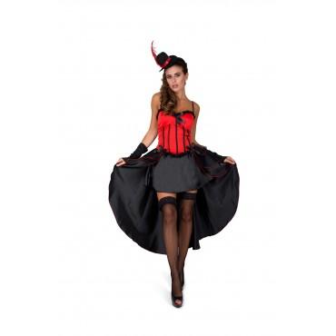Costume Adult Burlesque Red L