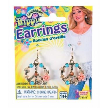 Earrings Peace Hippie