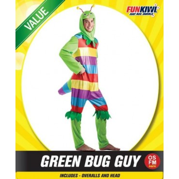 Costume Adult Bug Green