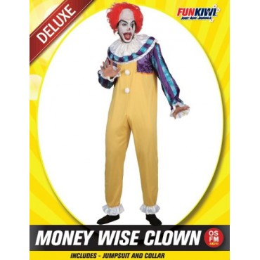 Costume Adult Clown Money Wise
