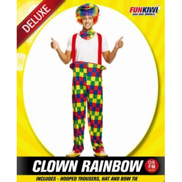 Costume Adult Clown Rainbow...