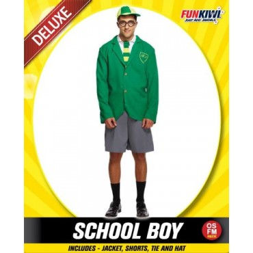 Costume Adult School Boy Green