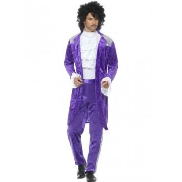 Costume Adult 80's Purple...