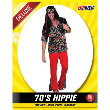 Costume Adult 70's Hippie Man