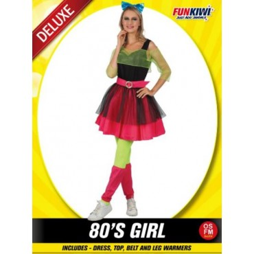 Costume Adult 80's Girl Neon