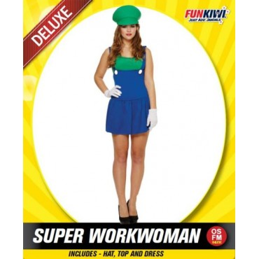 Costume Adult Luigi Lady