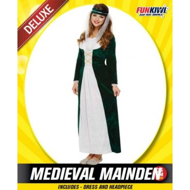 Costume Adult Medieval Maiden