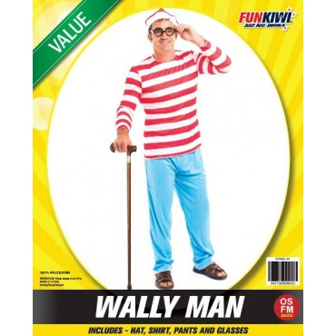Costume Adult Where's Wally