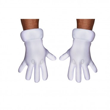 Gloves Adult Super Mario White