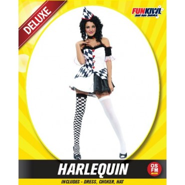 Costume Adult Harlequinn Clown