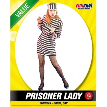 Costume Adult Prisoner Lady...