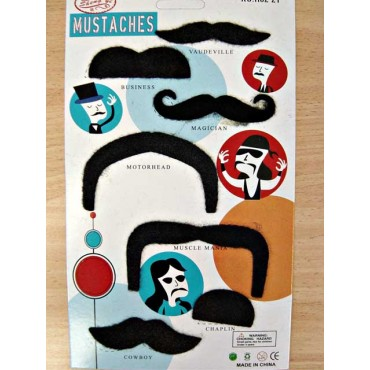 Moustache Set 7 Assorted