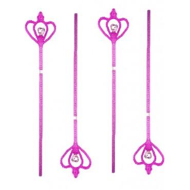 Wand Heart Gemstone Hot Pink