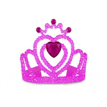 Tiara Hot Pink Heart