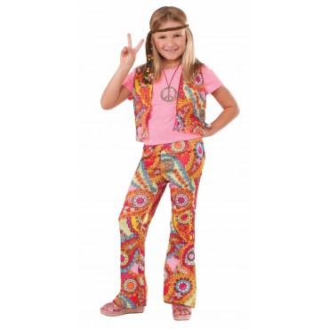 Costume Child Hippie Girl L