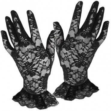 Gloves Short Lace Black