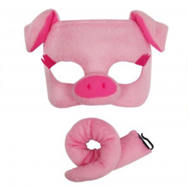 Mask And Tail Pig Pink